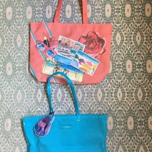 NWOT Set Of LANCOME Beach Totes - Everyday Bags